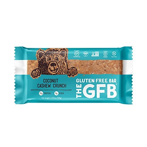 The GFB Gluten Free, Non-GMO High Protein Bars, Coconut Cashew Crunch, 2.05...