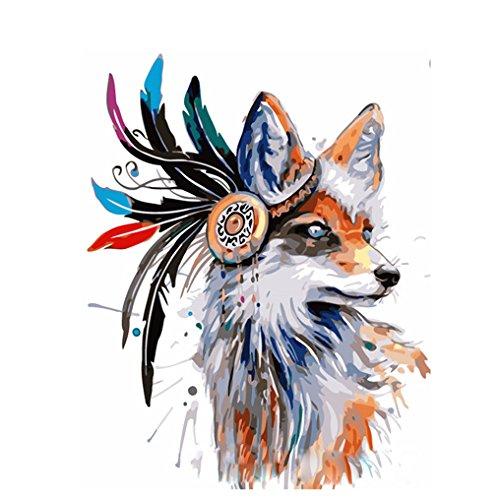 LovetheFamily 数字油絵 数字キット塗り絵 手塗り DIY絵 デジタル油絵 オオカミ頭 40x50cm ホーム オフィス装飾の商品画像