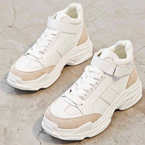 de Versión Grueso Zapatillas SHOES Super White Small La de Calzado Blanco Deporte xiaolin Fire Coreana InwfY