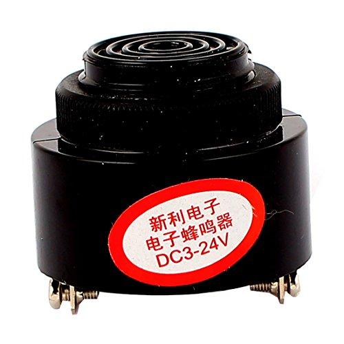 uxcell DC 3-24V 85DB Continuous Beep Alarm Electronic Piezo Buzzer Sounder