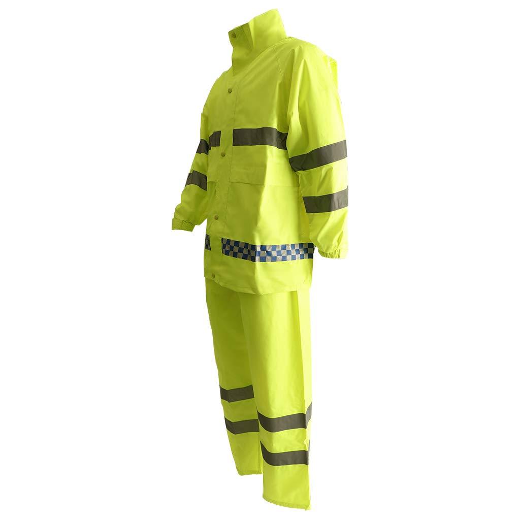 Flameer Reflective Raincoat Waterproof Rainwear Hood Jacket Outdoor Coat Pants Zipper Design - XXL by Flameer (Image #6)