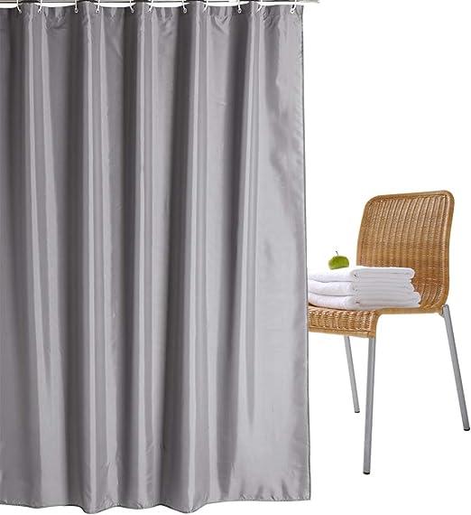 Luggage Waterproof Bathroom Polyester Shower Curtain Liner Water Resistant Hook