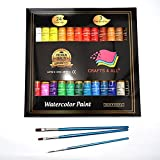 Arts & Crafts : Watercolor Paint Set by Crafts 4 All 24 Premium Quality Art Watercolors Painting Kit for Artists, Students & Beginners - Perfect for Landscape and Portrait Paintings on Canvas