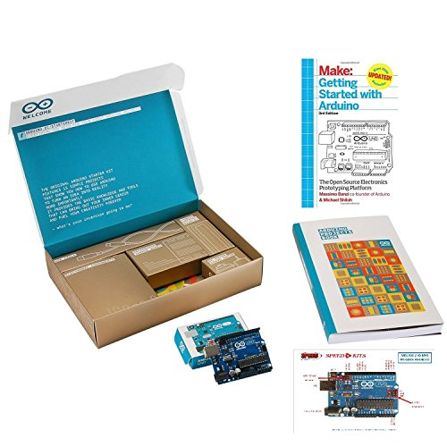 The Official Arduino Starter Kit Deluxe Bundle with Make: Getting Started with Arduino: The Open Source Electronics Prototyping Platform 3rd Edition Book (Best Arduino Starter Kit)