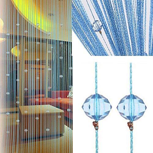 UNIAI Tassel Curtains Door Beads Curtains - String Curtain 100x200cm Bead Curtain for Doorway Thread Fringe Window Panel Room Divider Cute Strip Tassel Party Events]()