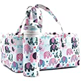 Baby Diaper Caddy Organizer| Newborn Baby Shower Gifts| Baby Bag| Gift Basket |for Nursery Changing Table| Baby Registry Must Haves| Travel Organizer |Portable Tote Storage|Car Caddie for Accessories