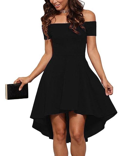e226fd00be3e Baymate Donna Elegante Vestiti Abito Senza Spalline Vestito da Cocktail  Slim Fit Manica Corta Abiti da Sera  Amazon.it  Abbigliamento