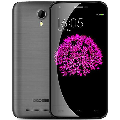 DOOGEE Valencia 2 Y100 Pro 5 Inch 720P Quad Core 64 bit Android 5.1 Unlocked GSM 4G HSPA+ Smartphone 13MP CAM 2GB RAM 16GB ROM - AT&T/ T-Mobile/Cricket/MetroPCS(Gray) (Doogee 700)