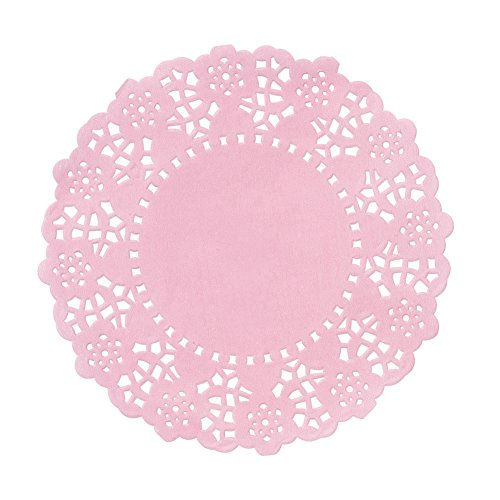 Talking Tables Pink Party Mini Paper Doilies  for a Birthday or Tea Party, Pink (100 Pack)