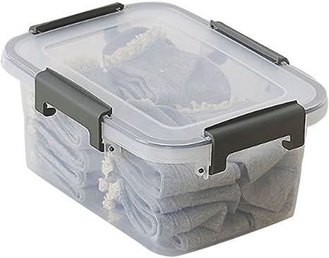 Cayuan Caja De Almacenamiento Cuadrada De Plástico Multifuncional Transparente Cajas Almacenaje De Ropa: Amazon.es: Hogar