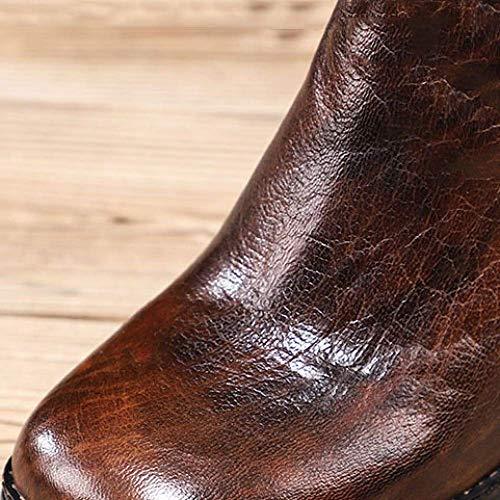 vintage chaussures fermeture bottines Zpedy à femmes glissière confort noire hauts talons pour personnalité aHqq4wdY