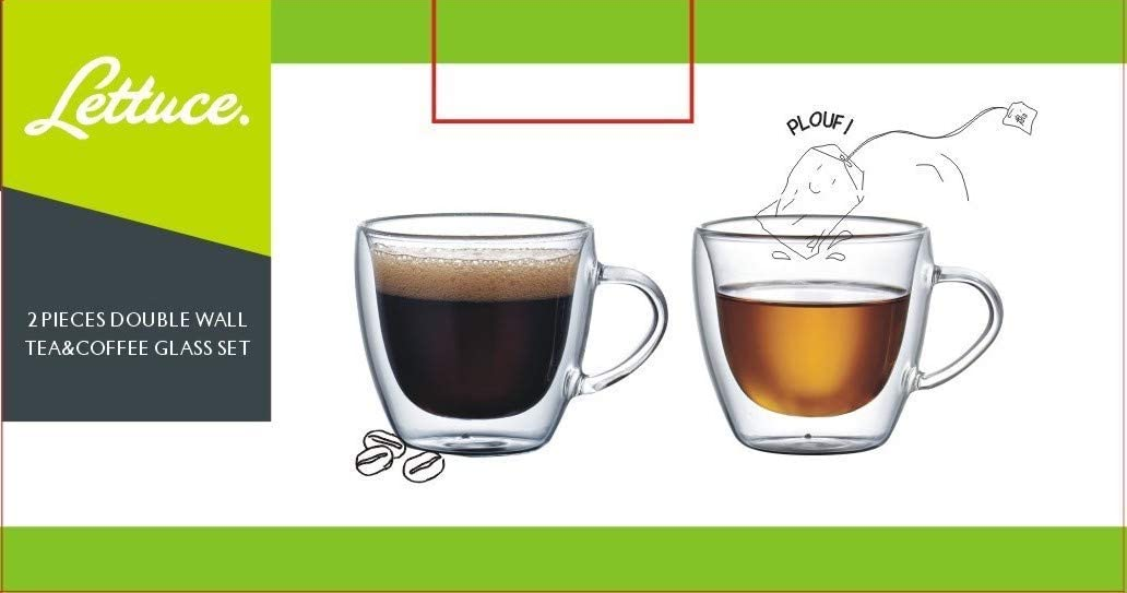 150ml 200ml double glass cup and saucer with handle with tea mug double coffee cup and saucer set tea cafe cup and saucer set