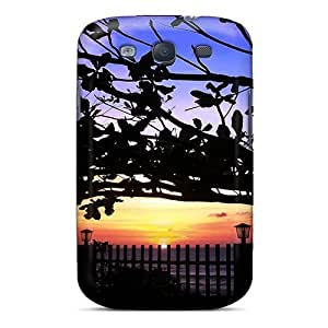 Protective Tpu Case With Fashion Design For Galaxy S3 (three Tree Lights)