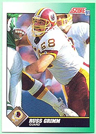 huge selection of 47570 7a6ae Russ Grimm 1991 Score #268 - Washington Redskins at Amazon's ...