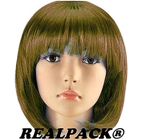 Mujer Bob Sexy Short Cut Disfraz infantil de pelucas ...