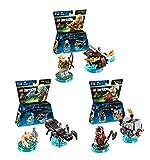 LEGO Dimensions Lord of the Rings Fun Pack 3 Piece Variety Bundle; Gollum Fun Pack, Legolas Fun Pack, Gimli Fun Pack