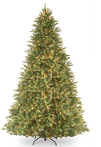 9' Pre-Lit Tiffany Fir Artificial Christmas Tree – Clear ()
