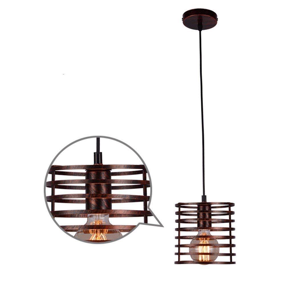 FuweiEncore Pendelleuchte Kronleuchter Vintage Retro Eisen Personalisierte Industrielle Wind Bar Kunst Lampen 16  16 cm B Restaurant Dekoration