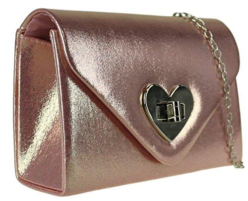 femme Girly pour Rose Pochette Handbags qqgwntrx1Z
