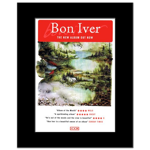 Music Ad World BON IVER - New Album Mini Poster - 28.5x21cm