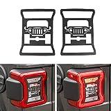 RT-TCZ Rear Tail Light Covers Guards Protectorsfor 2018 Jeep Wrangler JL Sport/Sports (Jeep Logo)