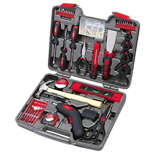 Apollo DT-8422 144 Piece Household Tool Kit with 4.8V Cordless Screwdriver ()