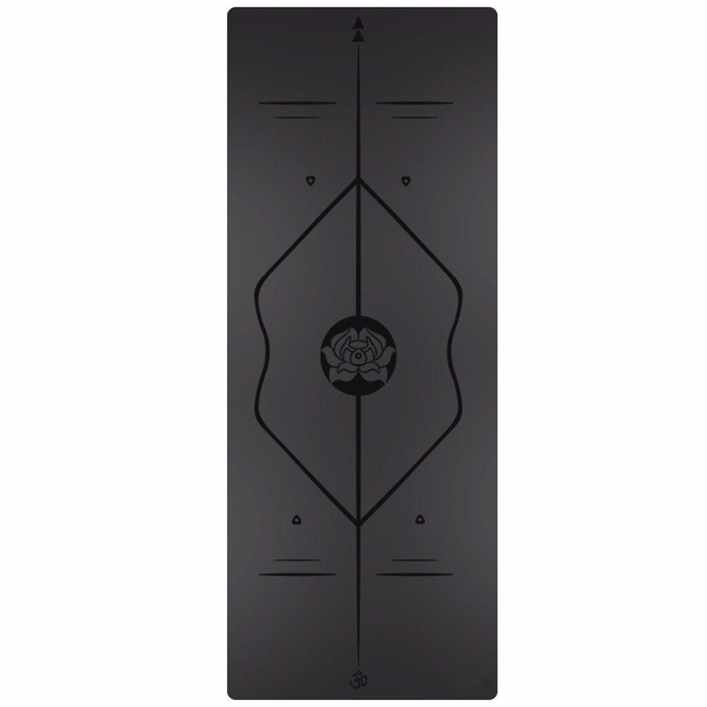 SJQKA-Professional Yoga Mat, Natural Rubber Anti-Skid Yoga Mat, Widening Thickening Men And Women Fitness Pad,Black