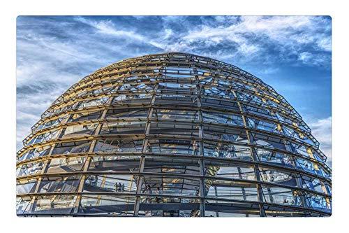 Tree26 Indoor Floor Rug/Mat (23.6 x 15.7 Inch) - Bundestag Dome Reichstag Bundestagswahl Berlin