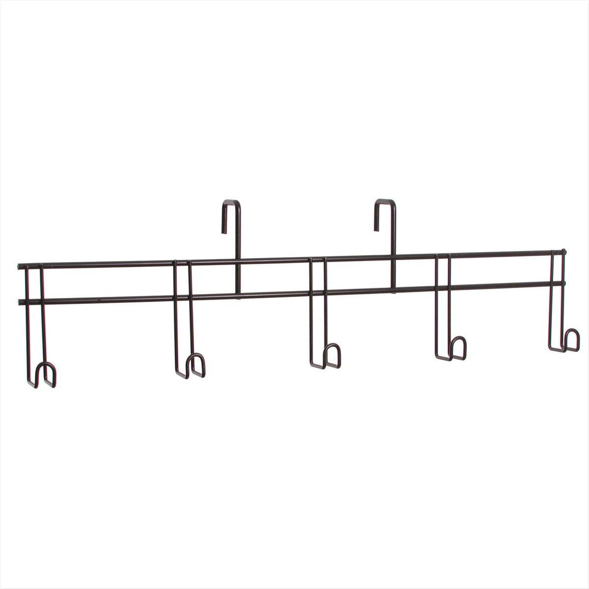 Tough 1 5 Hook Tack Rack, Black