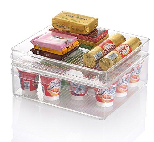 Kuuk Fridge Freezer Stackable Storage Boxes Large 12 X 6 X