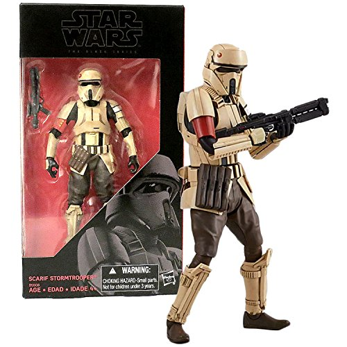 Hasbro Year 2016 Star Wars The Black Series Rogue One 6 Inch Tall Figure   Scarif Stormtrooper B9608 With Blaster Gun