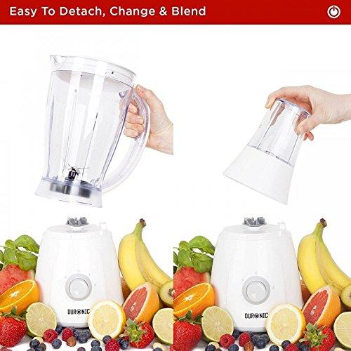 Duronic BL4 Batidora de Vaso Americana para Frutas y Verduras y Molino de Café y Molino para Especias, Café y Semillas: Amazon.es: Hogar