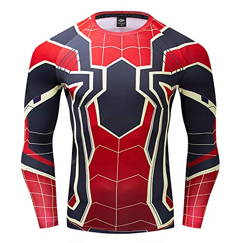 GYm GaLa Infinity War - Part 3 Spider-Man Long Sleeve Compression Sport  Fitness T-Shirt Suitable for Cosplay and Theme Party (S c9ed31228
