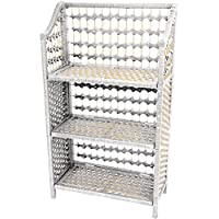 Oriental Furniture 33 Natural Fiber Shelving Unit - White