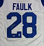 Los Angeles Marshall Faulk Autographed White Jersey PSA/DNA