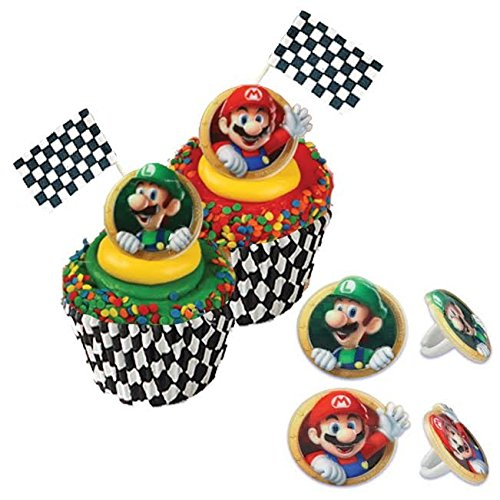 Price comparison product image Super Mario Kart Cupcake Set: Rings,  Flags,  Picks