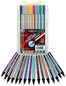 Sargent Art 22 1492 24 Super Fine Line Markers Case Detail Coloring