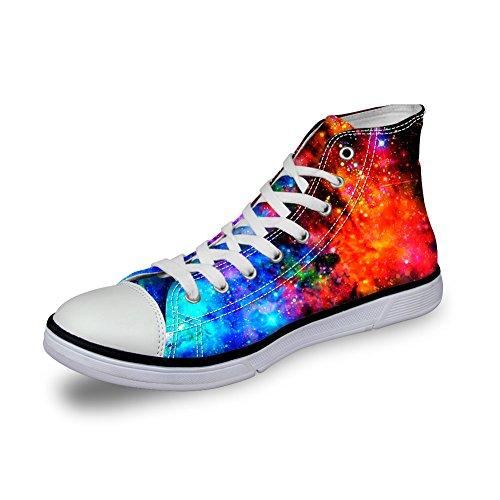 Per Te Disegni Glitter Scintillanti Unisex Alta Cima Donna Uomo Galaxy Scarpe Tela Moda Sneakers Lace Up Galaxy 3