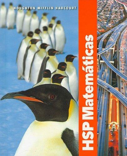 HSP Matemáticas © 2009: Edición del estudiante Grade 5 2009 (Spanish Edition) by HARCOURT SCHOOL PUBLISHERS