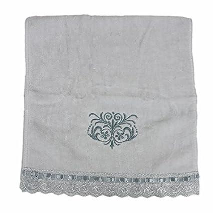 eDealMax Encaje Bordado rectángulo Toallita de algodón toalla DE 35 x 74cm