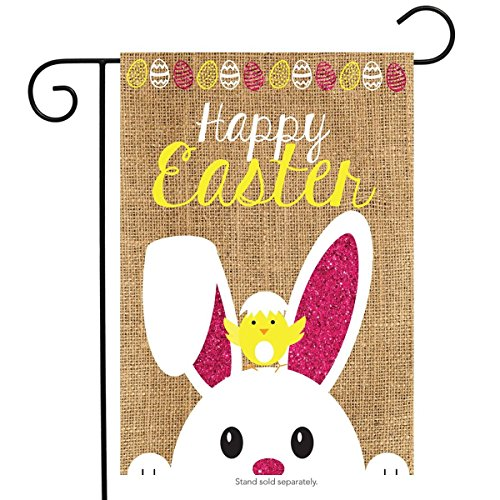 "Briarwood Lane Easter Burlap Garden Flag Bunny Chick 12.5"" x"