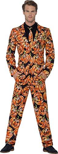 Smiffy's Men's Pumpkin Suit, Jacket, Trousers & Tie, Size: Xl, Colour: (Pumpkin Suit)