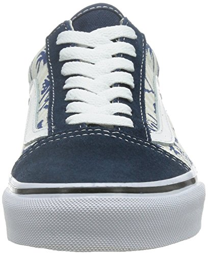 White Adulte Marron Stripes Bleues Mixte Multicolore Old Baskets True Unique Basses Taille Hula Skool U Dress Vans Y07qaa