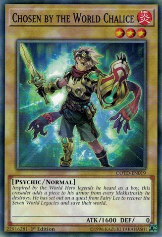 Chalice Center - Chosen by the World Chalice - COTD-EN019 - Common - 1st Edition - Code of the Duelist (1st Edition)
