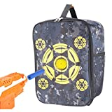 nerf bullet carrying bag - Target Pouch Storage Carry Equipment Bag, Portable Lightweight Backpack Rack Sacks for Nerf Gun N-strike Elite / Mega / Rival Series (Yellow)
