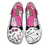 Hot Chocolate Design Chocolaticas Nerdy Women's Slip-On Fashion Sneaker Flat Multicoloured HCD 37