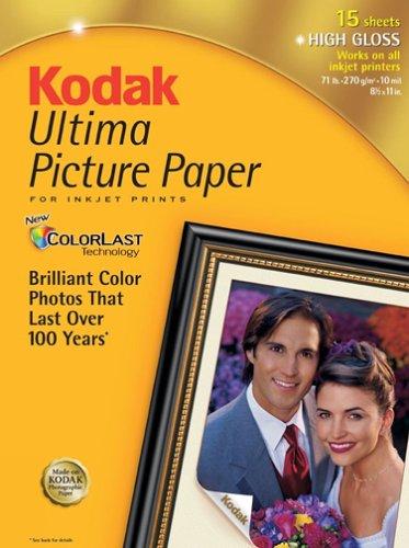 Kodak 8110579 Ultima Picture Paper, Glossy