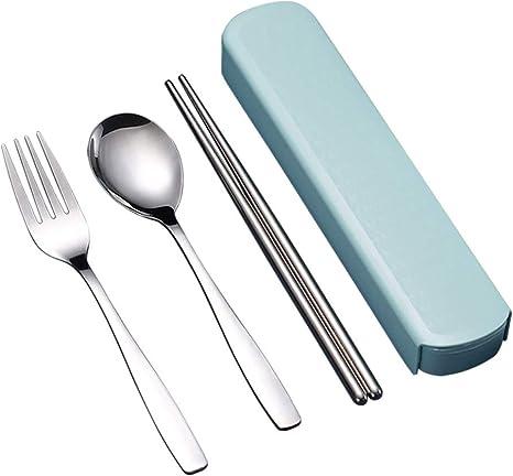 Travel Cutlery Set Camping Reusable Flatware Spoon Portable Fork Chopsticks Case