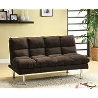 Furniture of America Michel Modern Microfiber Youth Futon, Espresso