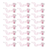 Homyl Pack of 24 Hen Party Do Willy Shot Glasses with Necklace Girls Night Out Bride To Be Gag Gift Favor
